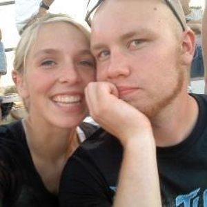 Manda and I at the Drag Races.