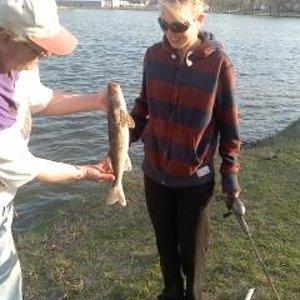 Manda's First Walleye 2013